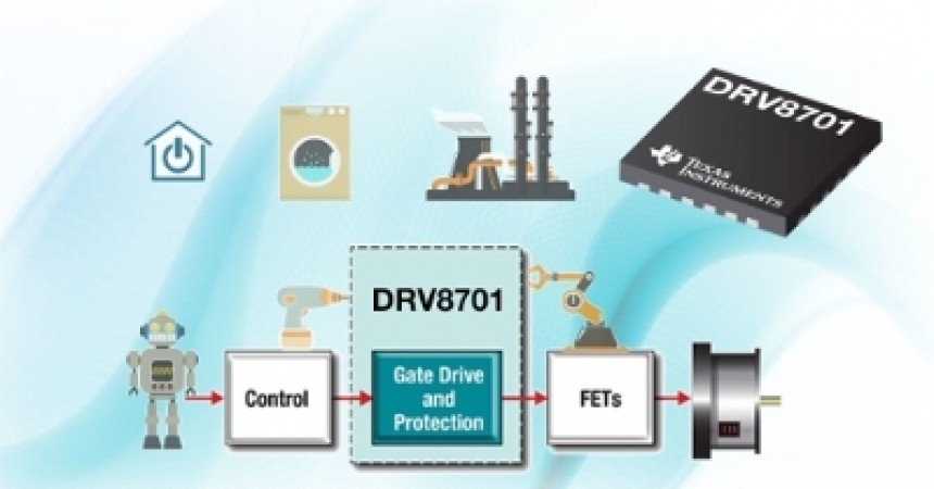 TI Introduces The First Brushed DC Gate Driver With Adjustable Current Drive Capability For Scalable Designs  Highly Integrated, High-Current Gate Driver With On-Chip Protection Reduces Board Space By 40 percent