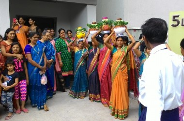 Lanco Hills Celebrated Bonalu With Traditional Festivities