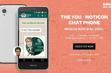 Snapdeal Exclusive InFocus M370 Introduced: The 'You-Moticon' Chat Phone!
