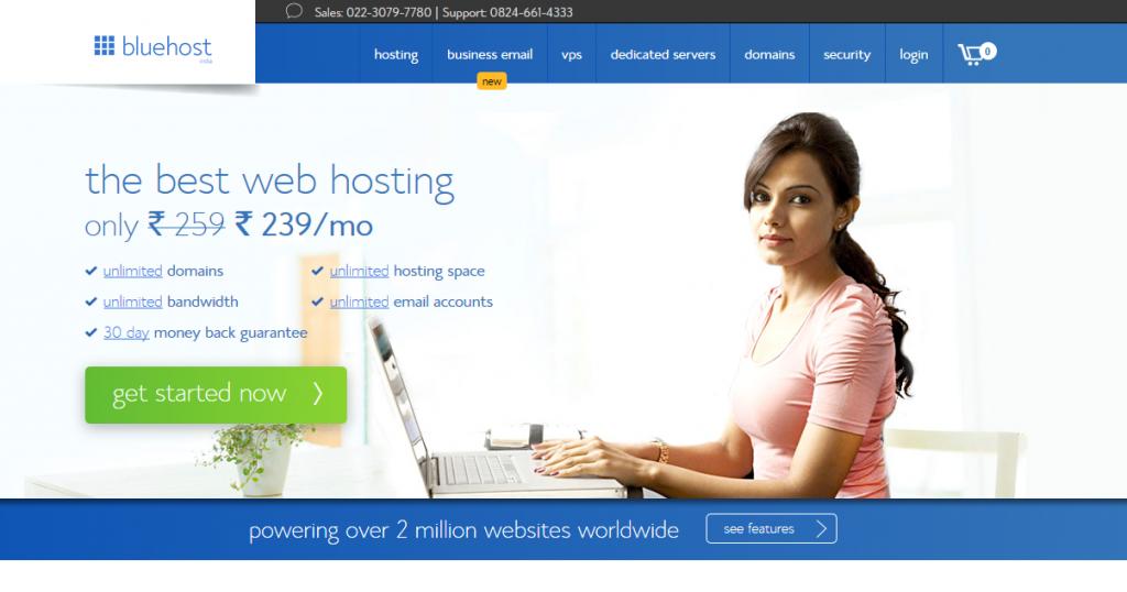 bluehost-hosting-india