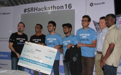 Team IIIT – B wins Swiss Re 'My Personal Risk Advisor' Hackathon