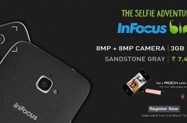 InFocus Launches BINGO 50- 'The Selfie Adventure' Smartphone 8 MP + 8 MP Camera, 3GB RAM & Sandstone Finish At Rs. 7,499