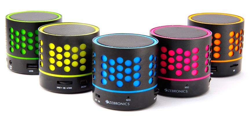 zebronics _dot_bluetooth_speakers_colors