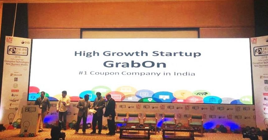 GrabOn Wins The High Growth Startup Award At The TiE ISB Connect 2016