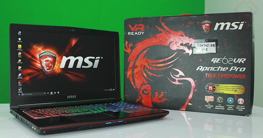 MSI GE62VR 6RF Apache Pro Gaming Laptop Review