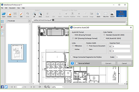 CAD to PDF Scanner Editor
