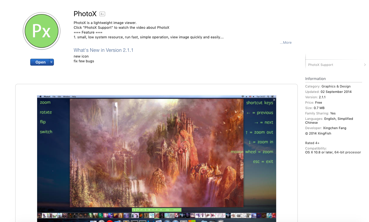 PhotoX App Store Best Mac Image Preview App