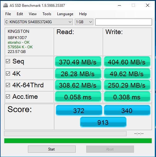 AS SSD Reading 2 Kingston SSD
