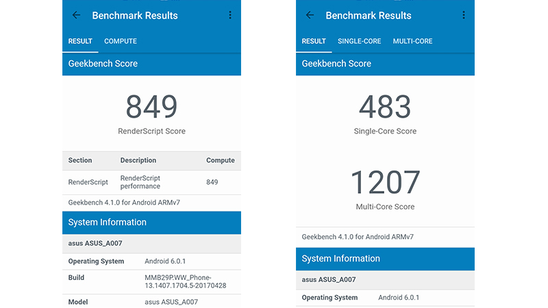 asus zenfone live benchmarks