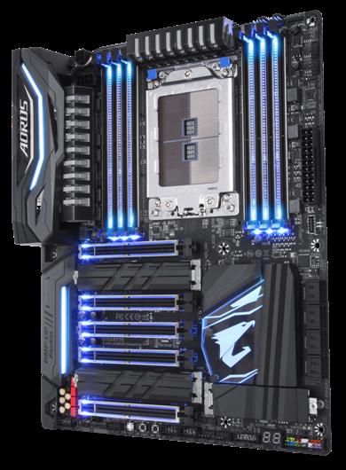 X399 AORUS Gaming 7 Rev10 SSBB light Blue CPU
