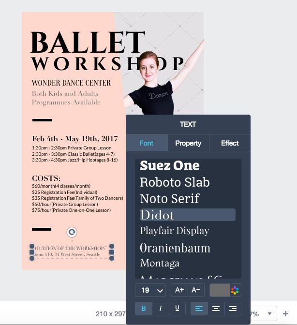 fonts customization fotojet designer
