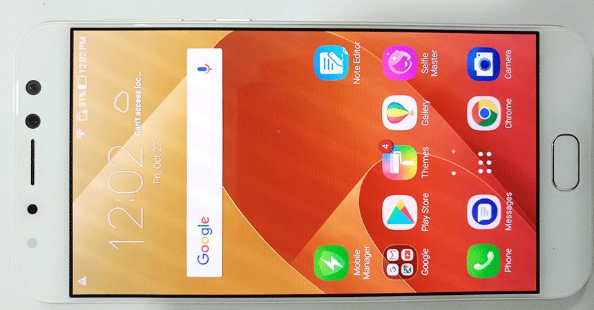 zenfone 4 selfie pro amoled display