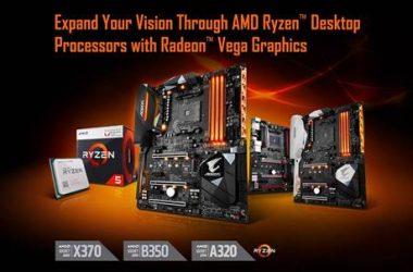GIGABYTE AM4 Motherboards Add Support For AMD Ryzen™ Desktop Processors with Radeon™ Vega Graphics