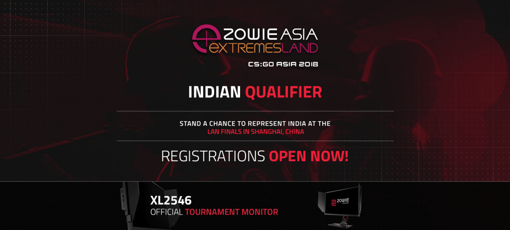 BenQ ZOWIE announces India Qualifiers for eXTREMESLAND 2018 CSGO Tournament
