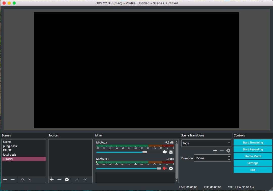 mac live streaming quick time basic setup