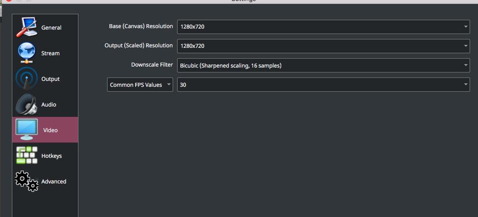 mac live streaming video settings