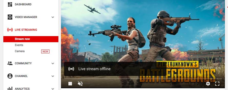 PUBG Live Streaming Dashboard