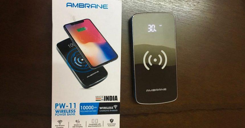 Ambrane PW-11 Wireless Power Bank Review (10000 mAh)