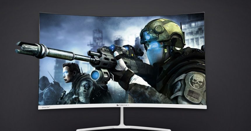 "Dive into the Immersive Experience with Zebronics 80 cms Curved  ""ZEB-AC32FHD LED"" Monitor"