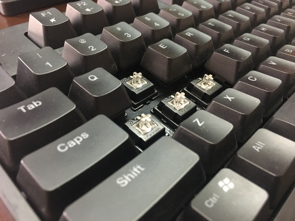 Zowie Celeritas II Keyboard Switches