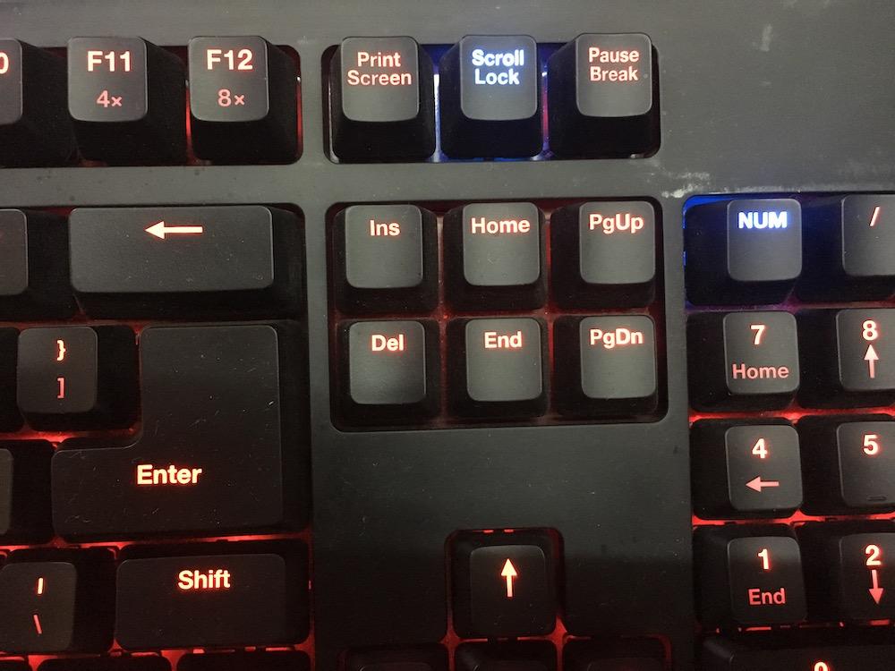 Zowie Celeritas II Keyboard Whit Keys