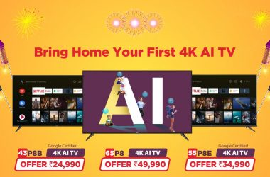 TCL launches 85-inch P8M Special 4K AI TV Variant Exclusively at TCL Brand Store to mark this Diwali Celebrations