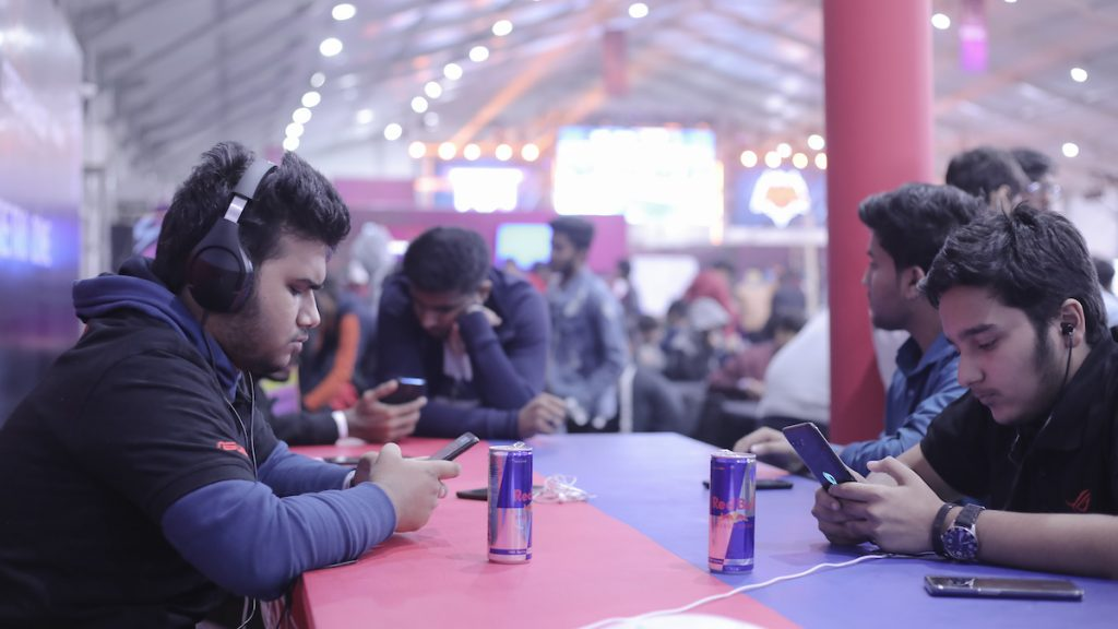 Participants competing to be crowned the best Clash Royale player at Red...