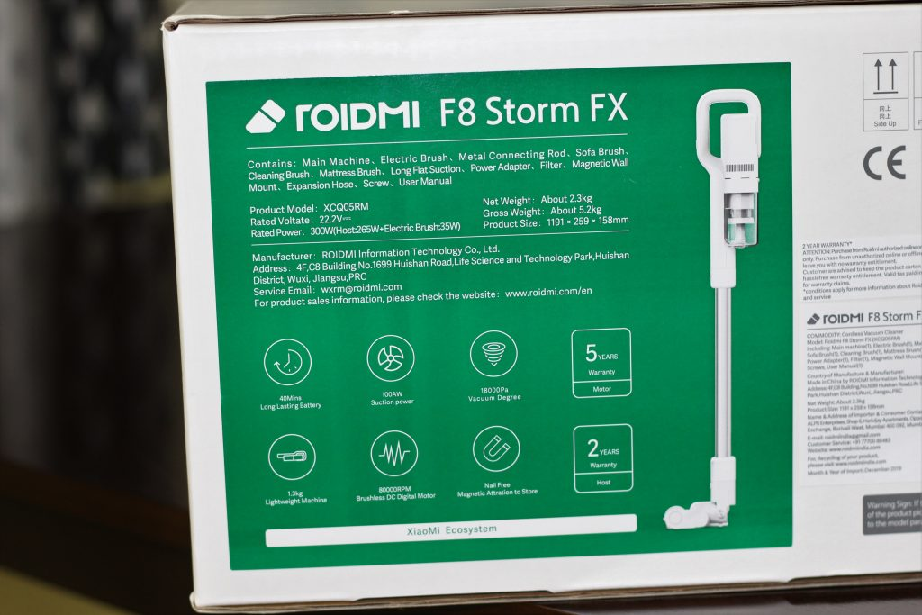 Outer Packaging of Roidmi F8 Storm FX