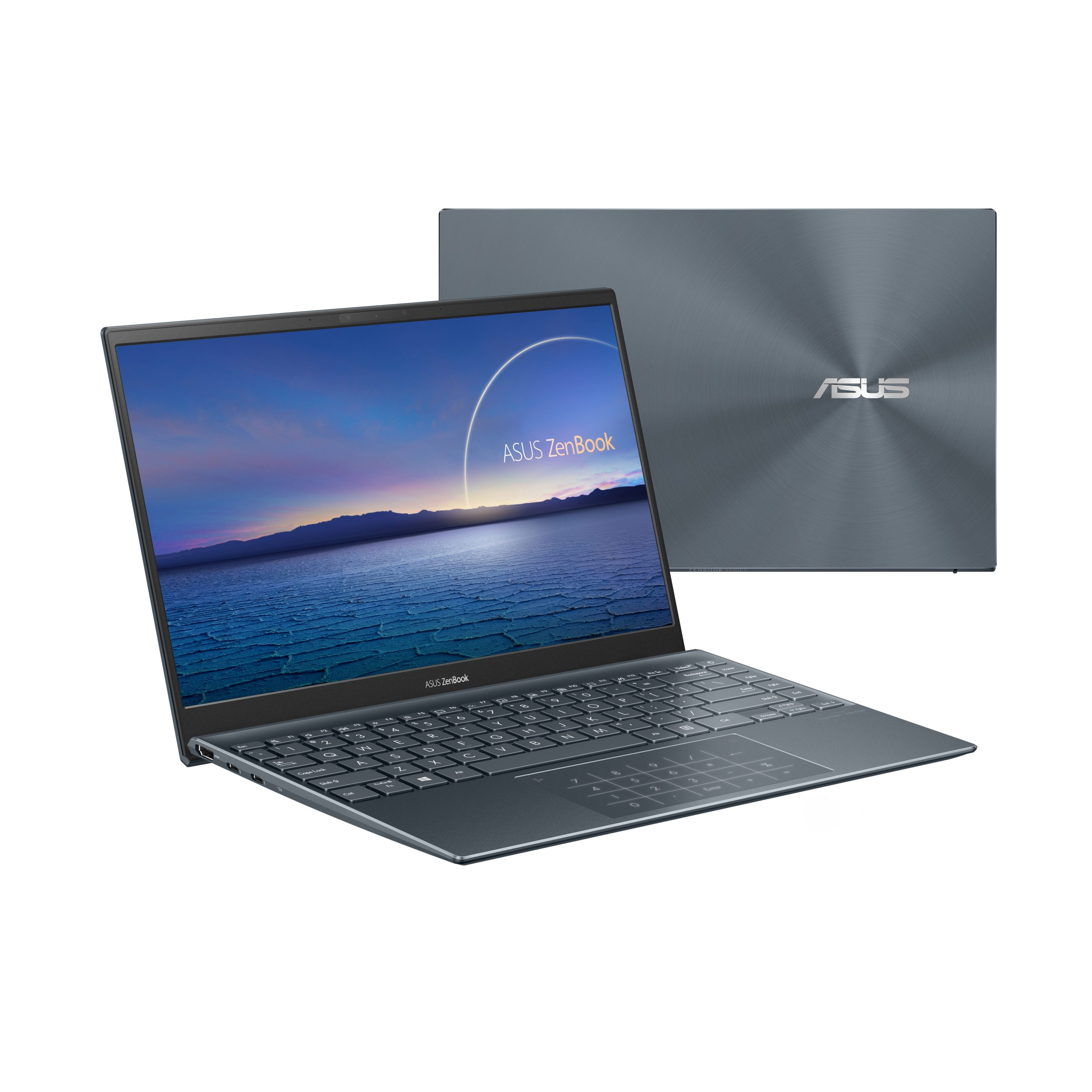 ZenBook 14 UX425 ICL Product photo 2G Pine Grey 13 NumberPad scaled