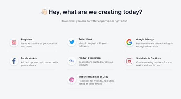 Peppertype.ai - AI content platform