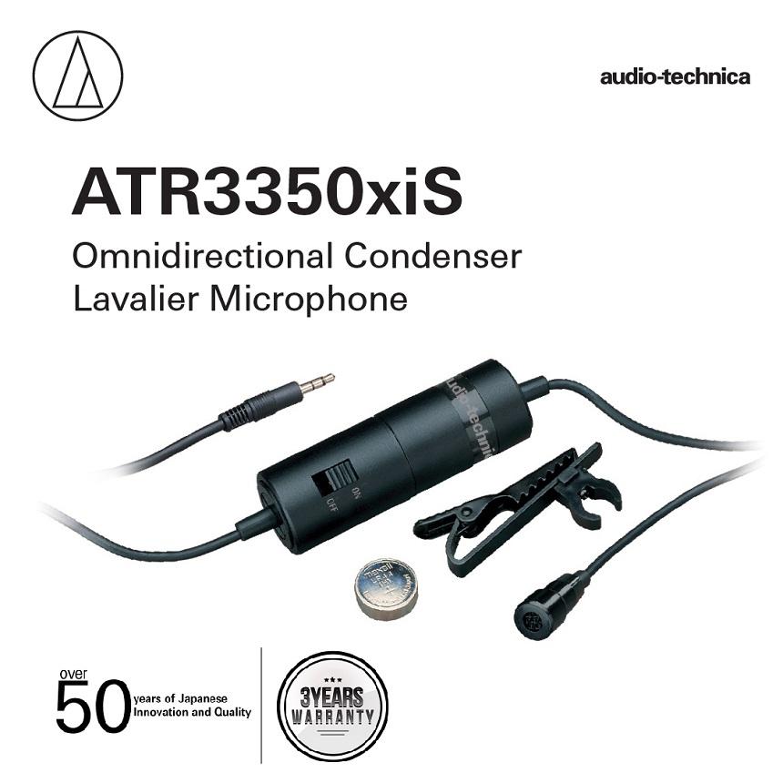 ATR 3350xiS Omni directional Condenser Lavalier