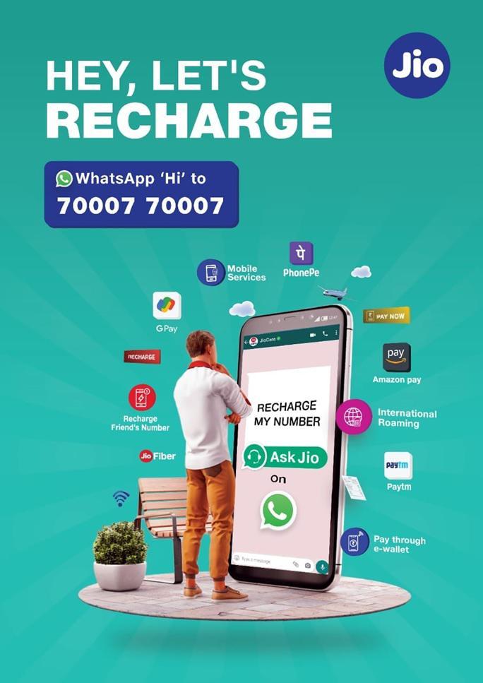 Jio Whatsapp Recharge