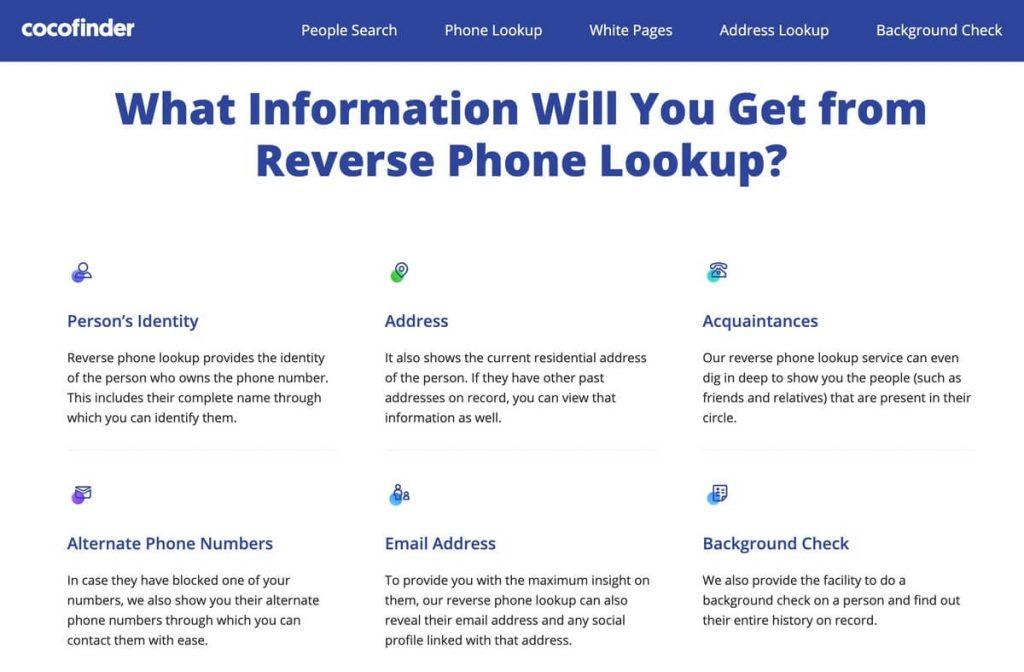 reverse phone lookup info