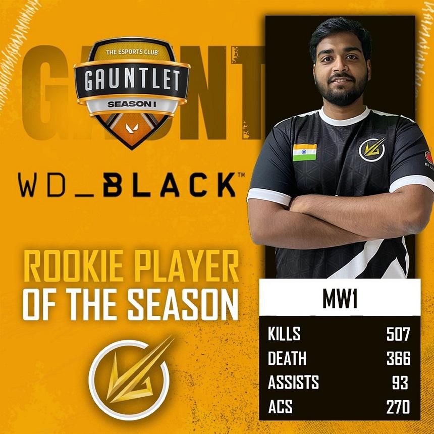 TEC Gauntlet Season 1 WD Black Rookie of the Season 1