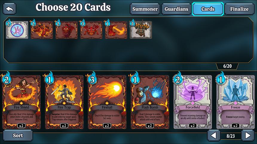 summonersFate deckBuilding
