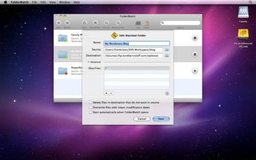 Folder Watch App For Mac OSX