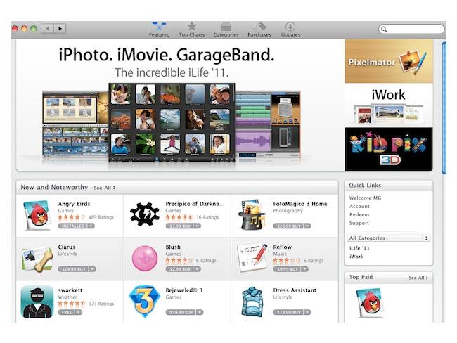 Mac App Store на примере одной программы. Home.