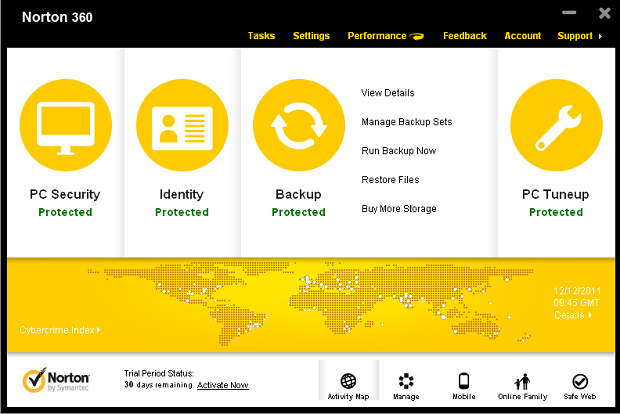 Norton Backup Management