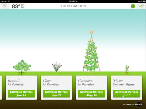 Sprout It IOS App Review Plan Manage Your Garden From IPad Digital