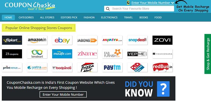 Smart coupons click shop save