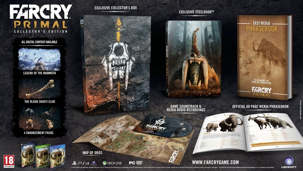 FAR CRY PRIMAL COLLECTORS EDITION DETAILS