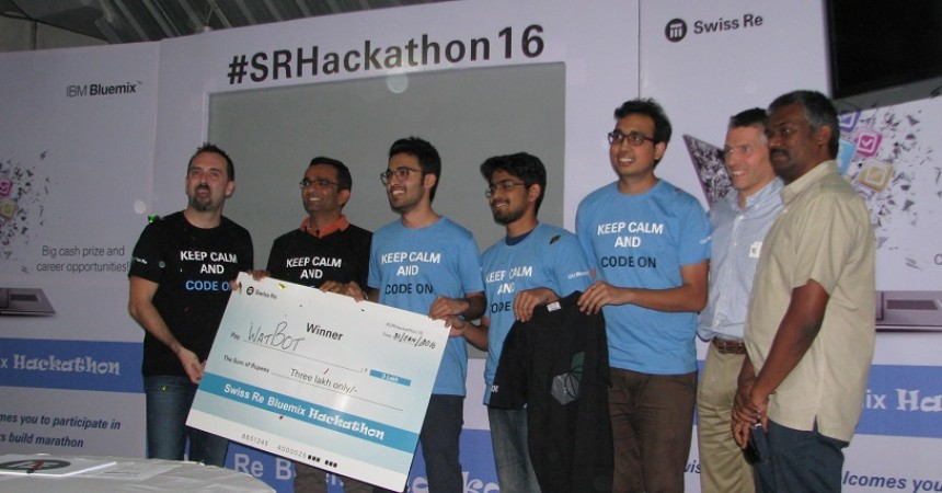 Team IIIT – B wins Swiss Re 'My Personal Risk Advisor' Hackathon