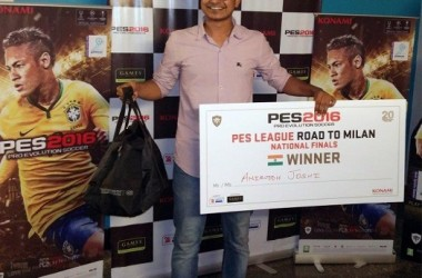 Mumbai Boy Aniruddh Joshi Wins PES 2016 – Road To Milan National Final