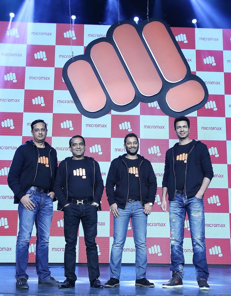 Sumeet Kumar, Rajesh Agarwal, Vikas Jain & Rahul Sharma, Co-Founders at Micromax (From L-R)