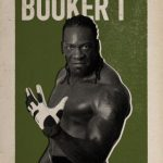 BOOKER T AIDEN ENGLISH WWE Rooster Card